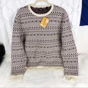 ✨5 for $25✨ Farrah Vintage Micro Pattern Sweater
